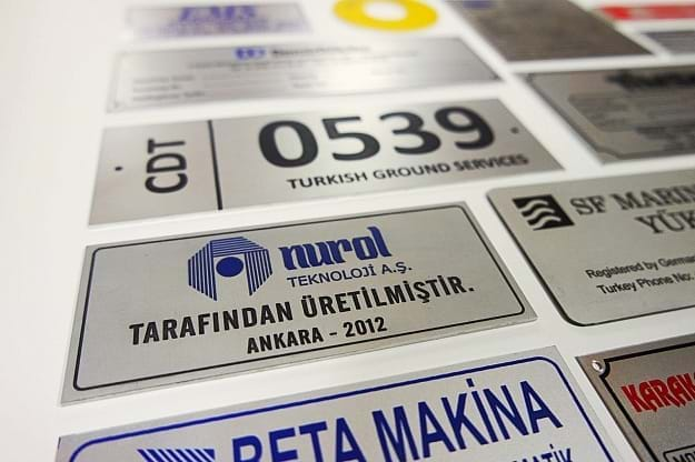Serigrafi Metal Etiket